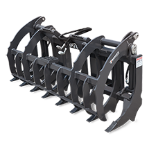 Attachment tools for Skid Steer Loaders and Compact track Loaders - Root Rake Grapple