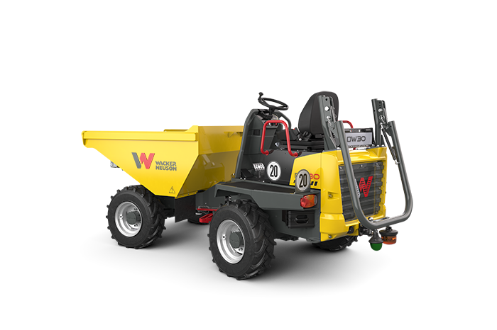 Wheel dumper DW30, collapsible roll over protection system (ROPS)