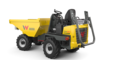 Wheel dumper DW20 with roll over protection system (ROPS) folded down