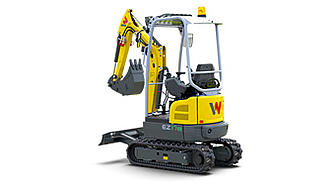 EZ17e - battery-powered Zero Tail mini excavator