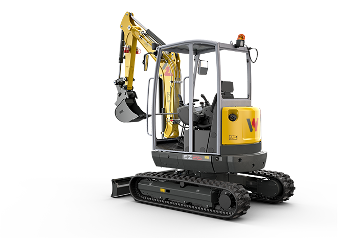 Wacker Neuson EZ26 zero tail excavator with canopy