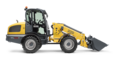Wacker Neuson telescopic wheel loader WL60T with earth bucket studio view 3