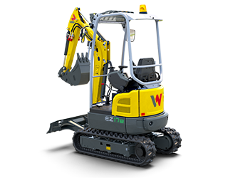 The fully electric mini excavator EZ17e
