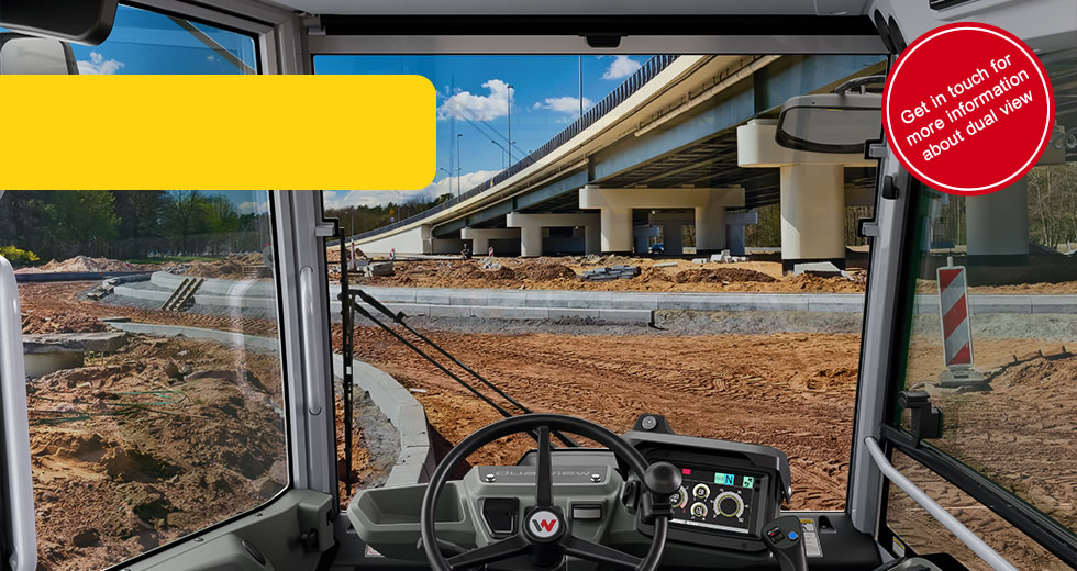 [Translate to Dutch:] Wacker Neuson dual view trucks